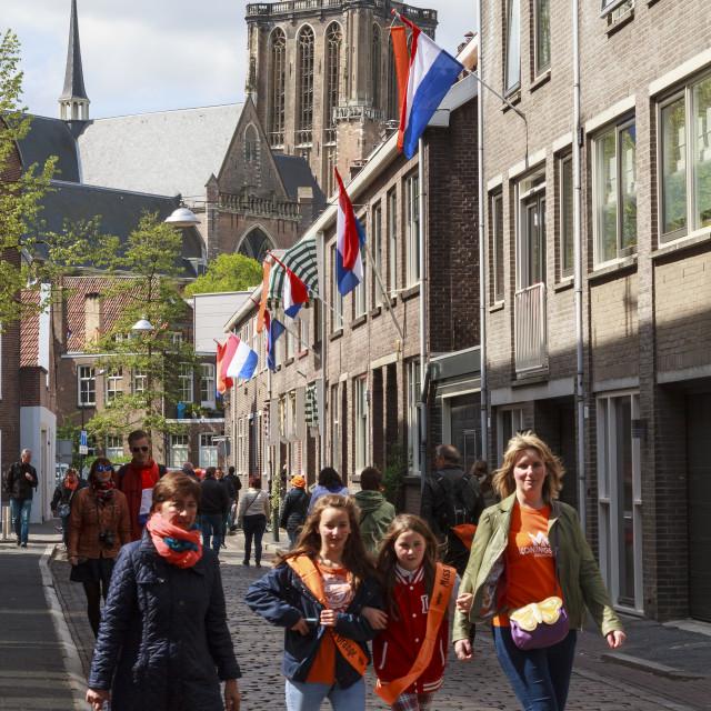 """Celebrations in Dordrecht"" stock image"