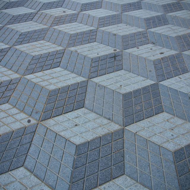 """Pattern on the floor"" stock image"