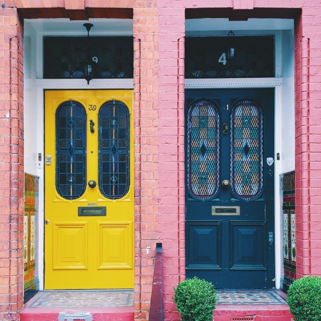 """The two doors"" stock image"