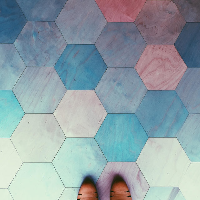 """Hexagons"" stock image"