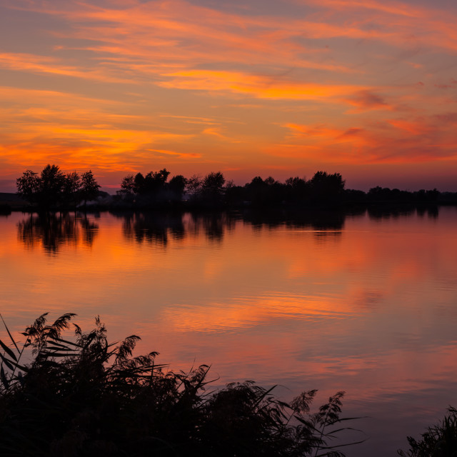 """""""Musov Lake after the Sunset"""" stock image"""
