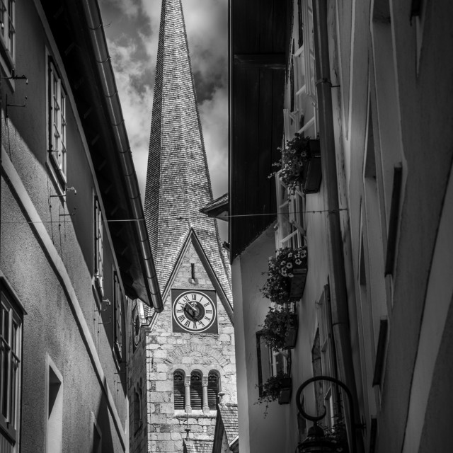 """Black and white Church"" stock image"
