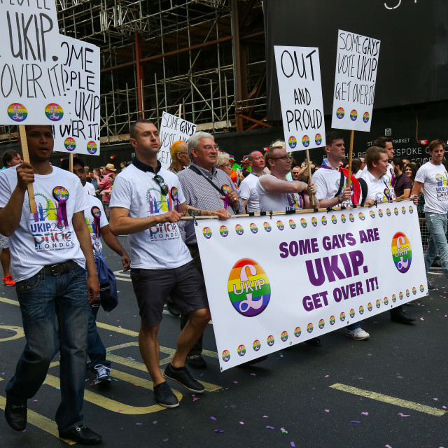"""Gay UKIP Supporters"" stock image"