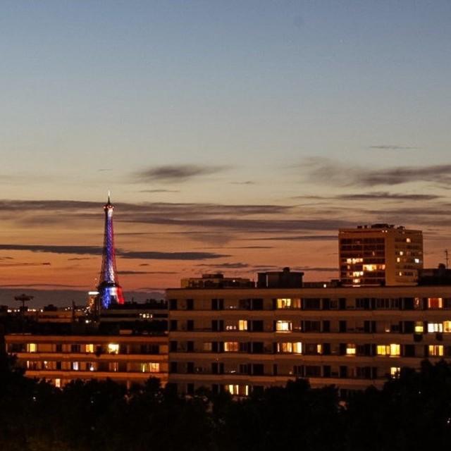"""Eiffel Tower Firework Display"" stock image"