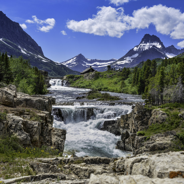 """River rapids"" stock image"