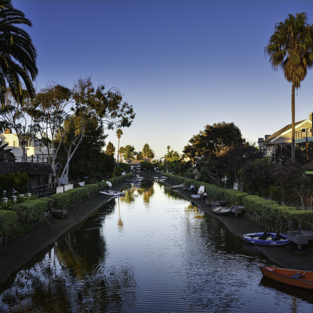 """Venice beach canals"" stock image"