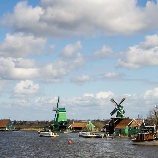 """Zaanse Schans Windmills"" stock image"