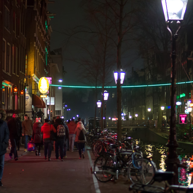 """Neon Light District"" stock image"