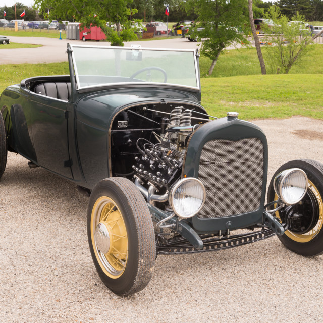 """Hot Rod at the Lonestar Round Up"" stock image"