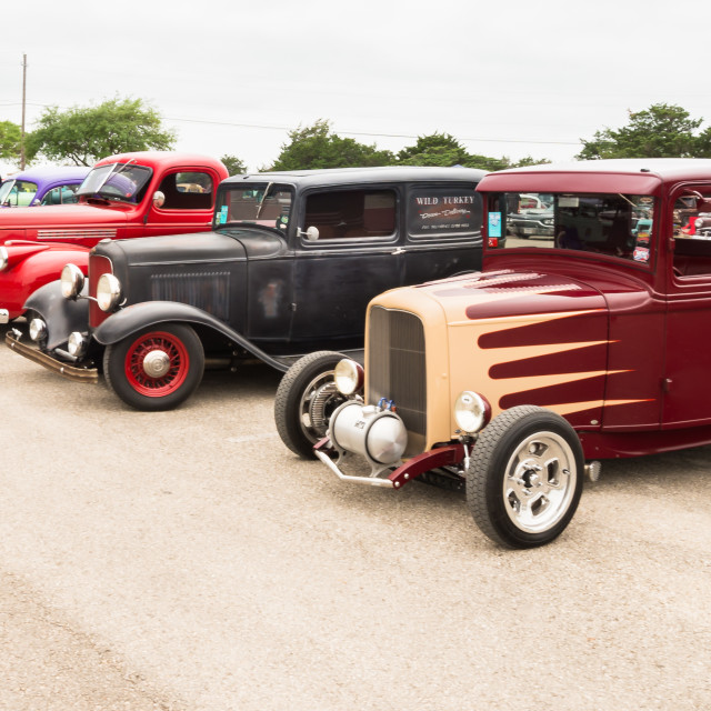 """Cars at the Lonestar Round Up"" stock image"