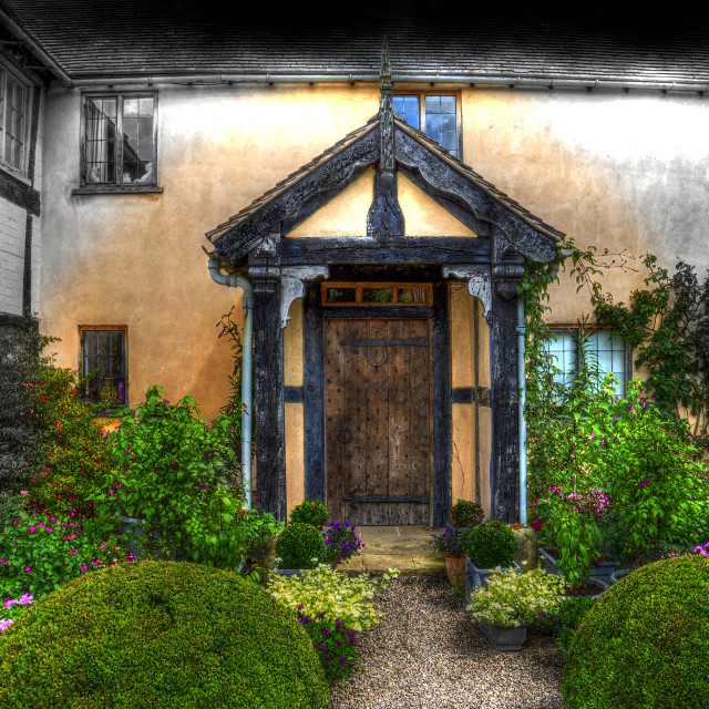 """""""The Old Porch"""" stock image"""