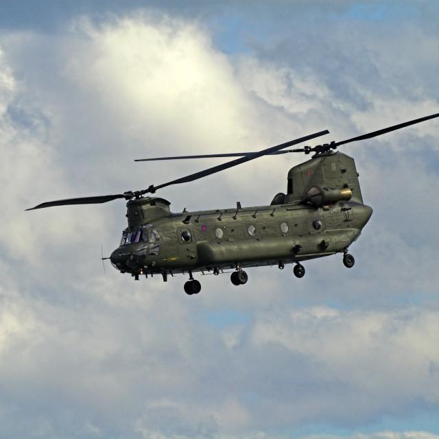 """""""Boeing Chinook HC2"""" stock image"""