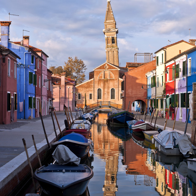 """Burano's Leaning Campanile"" stock image"