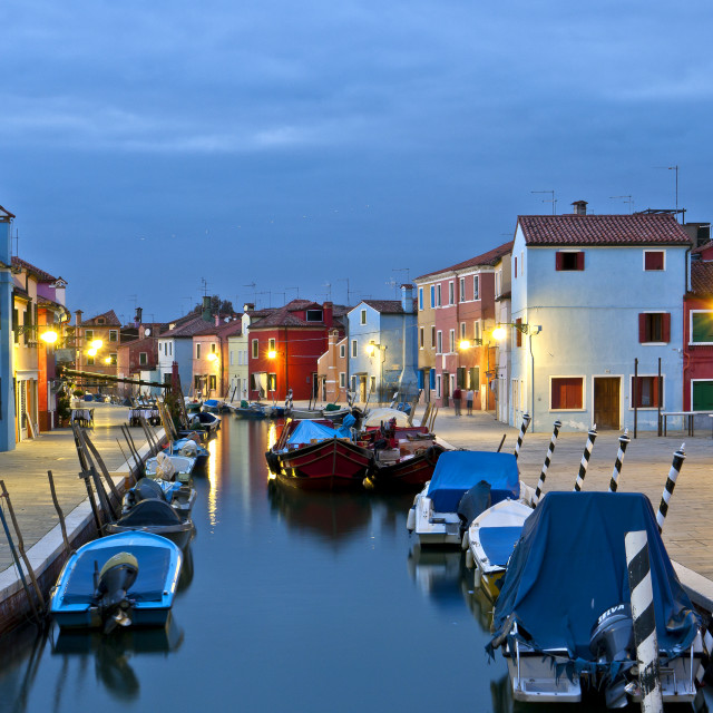 """""""Canalside Evening, Burano"""" stock image"""
