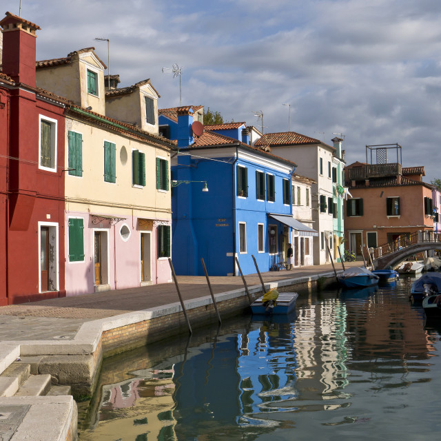 """""""Colourful Canalside Burano"""" stock image"""
