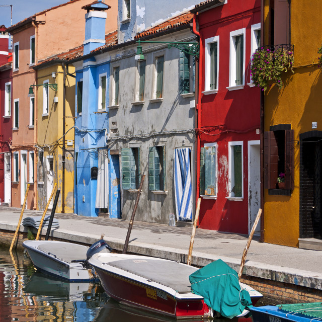 """""""Colours of Burano"""" stock image"""