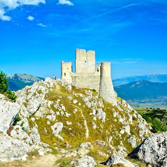 """""""Castello di Rocca di Calascio"""" stock image"""