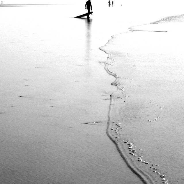 """""""Surfer Black and White"""" stock image"""