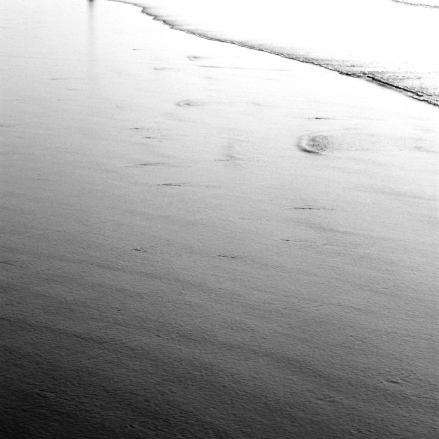 """Beach Black and White"" stock image"