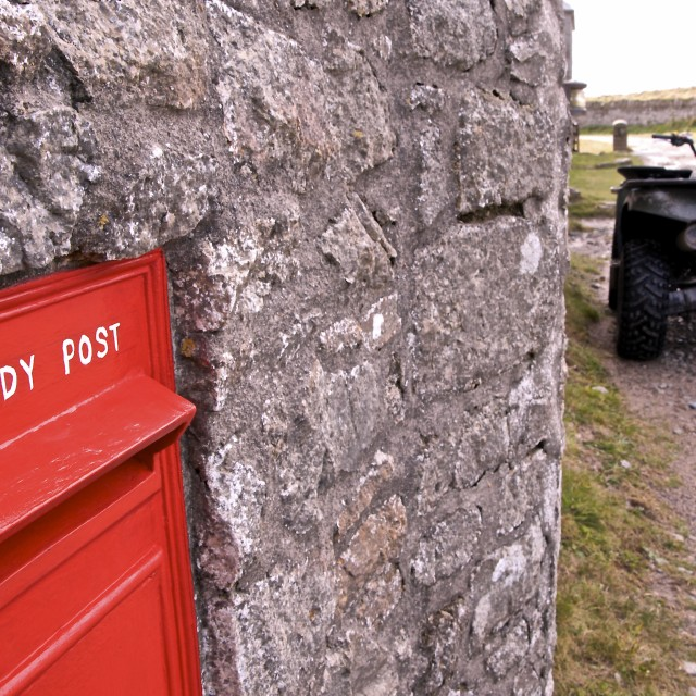 """Lundy Post Box"" stock image"