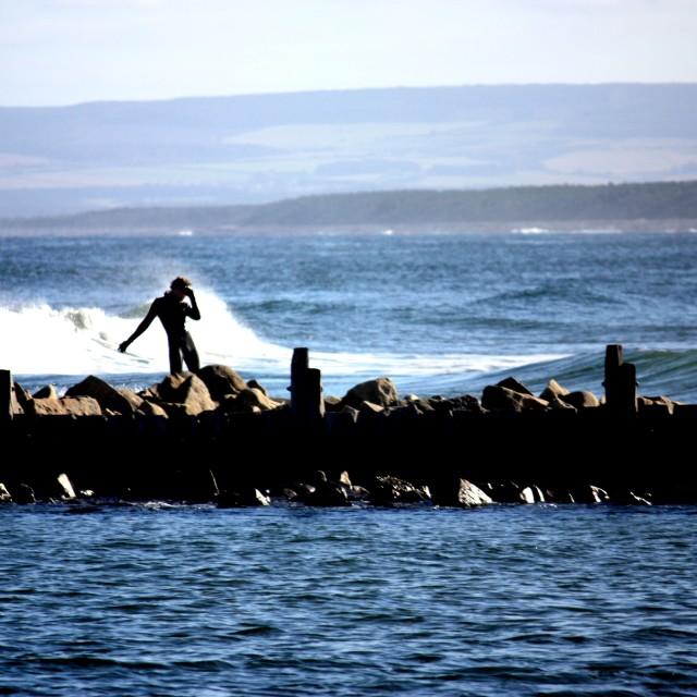 """Surfer Scotland"" stock image"