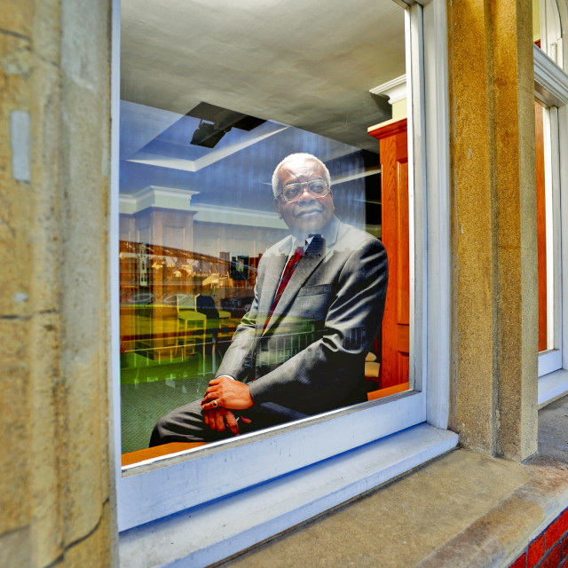 """Sir Trevor McDonald"" stock image"