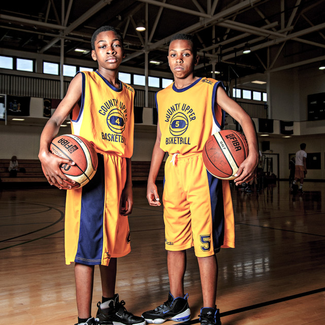 """Portrait of young Basketball players"" stock image"