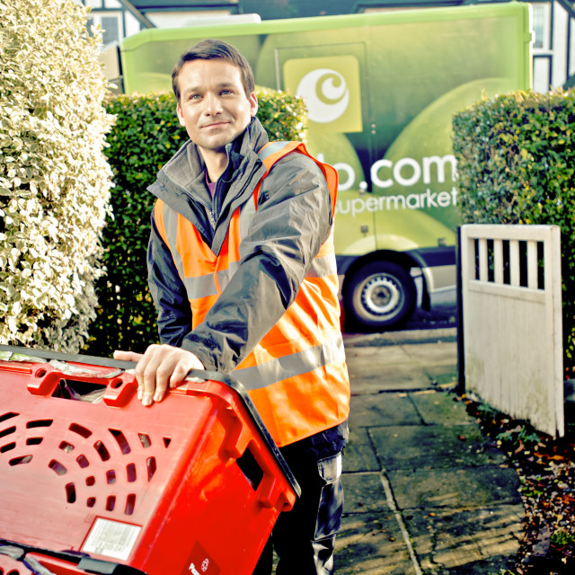 """Supermarket Deliveryman"" stock image"