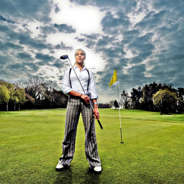 """New golfing star Hennie Brockway"" stock image"