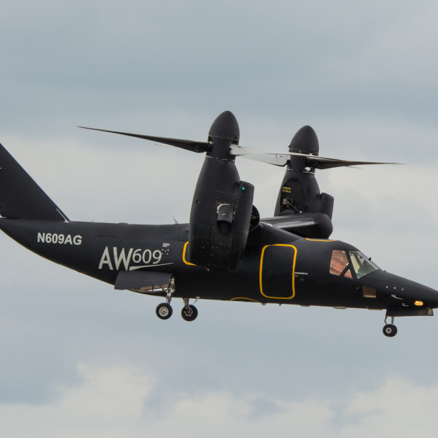 """Agusta Westland AW609 Tilt Rotor"" stock image"