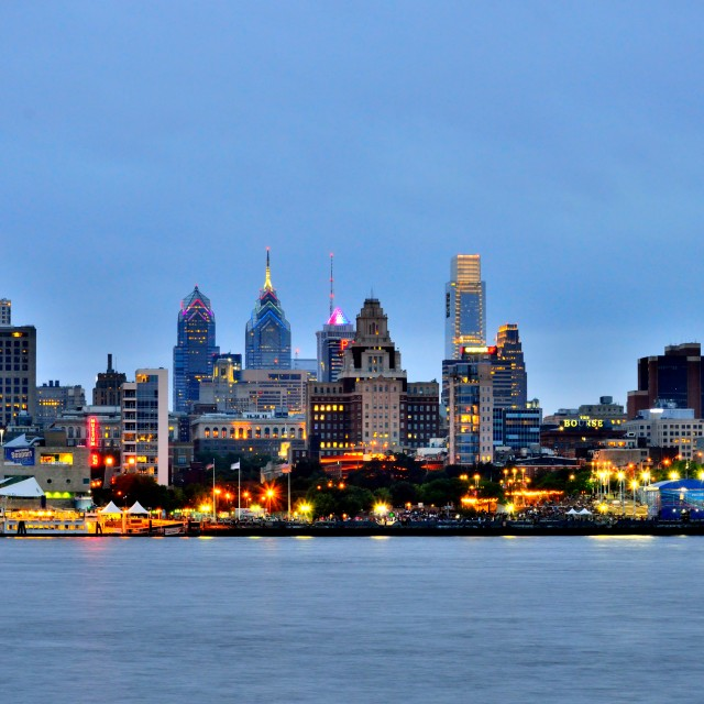 """Philly Skyline-1"" stock image"