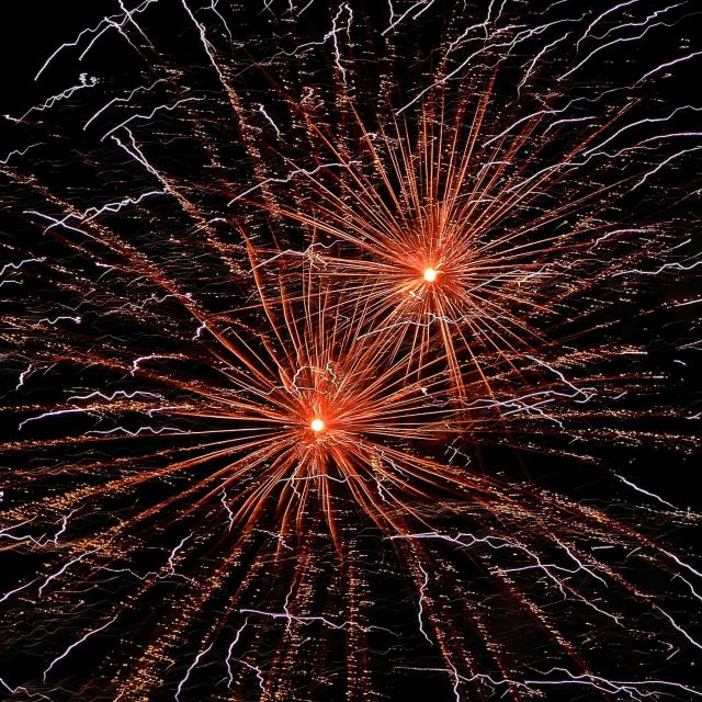 """""""fireworks two"""" stock image"""