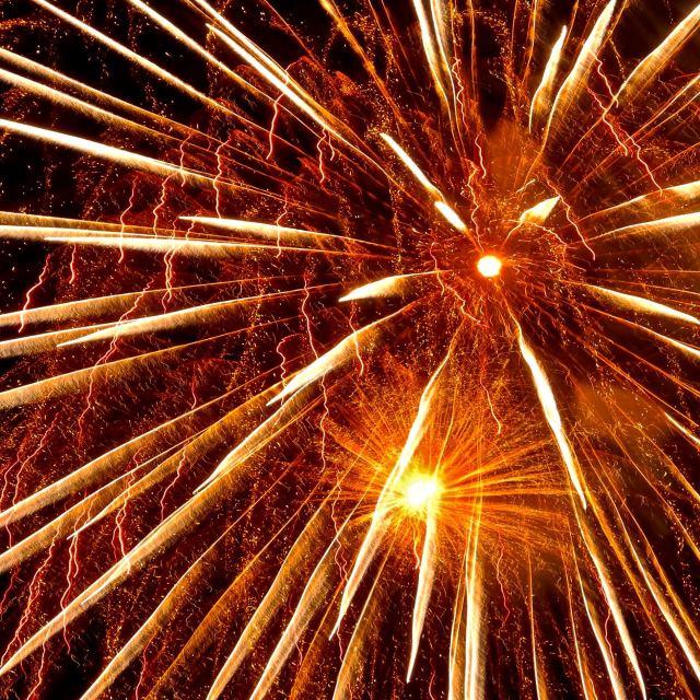 """Fireworks three"" stock image"