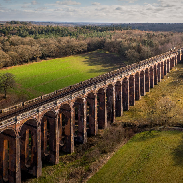"""Oose Valley Viaduct"" stock image"