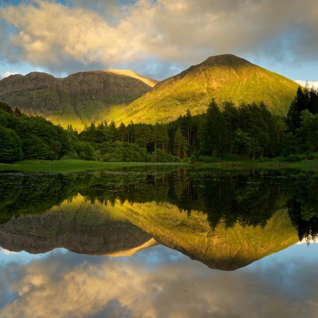"""""""Torren Loch in Glencoe"""" stock image"""