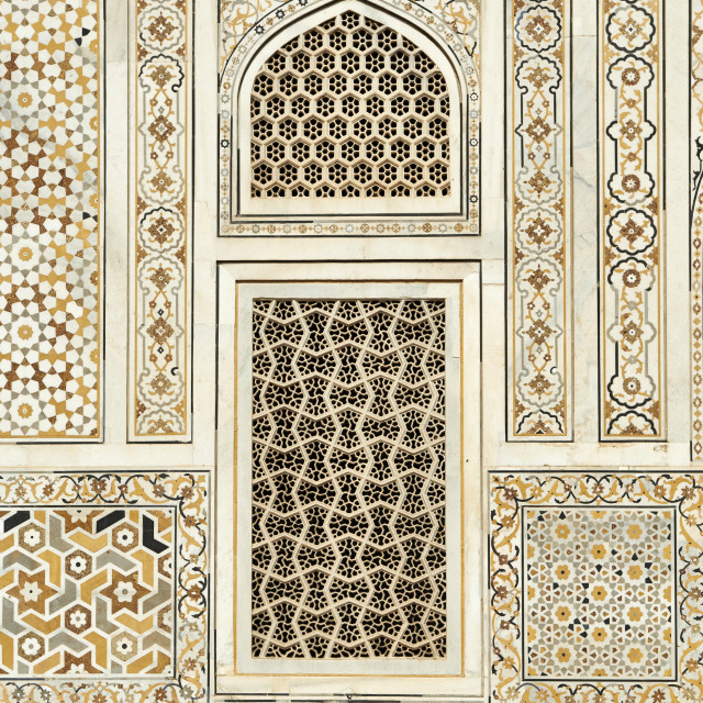 """Detail of Itmad-Ud-Daulah's Tomb"" stock image"