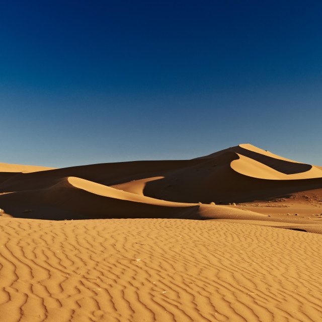 """dunes and desert landscape of Namib"" stock image"