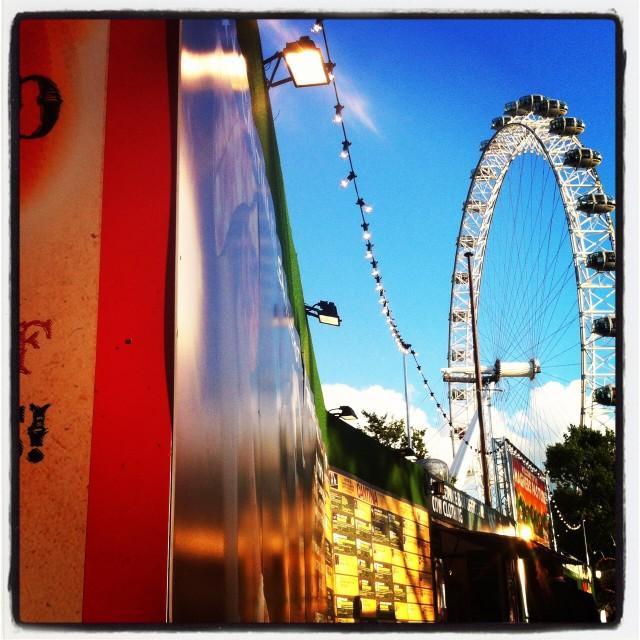 """London Eye and Southbank"" stock image"