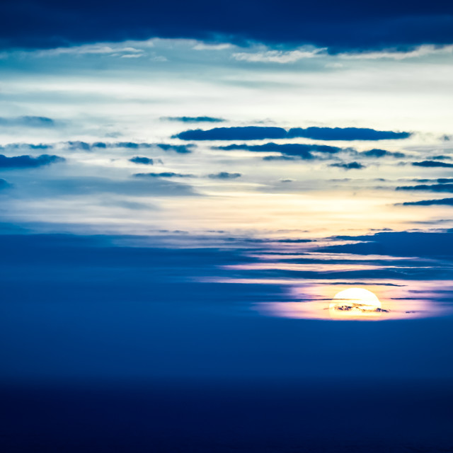 """distant sunset"" stock image"