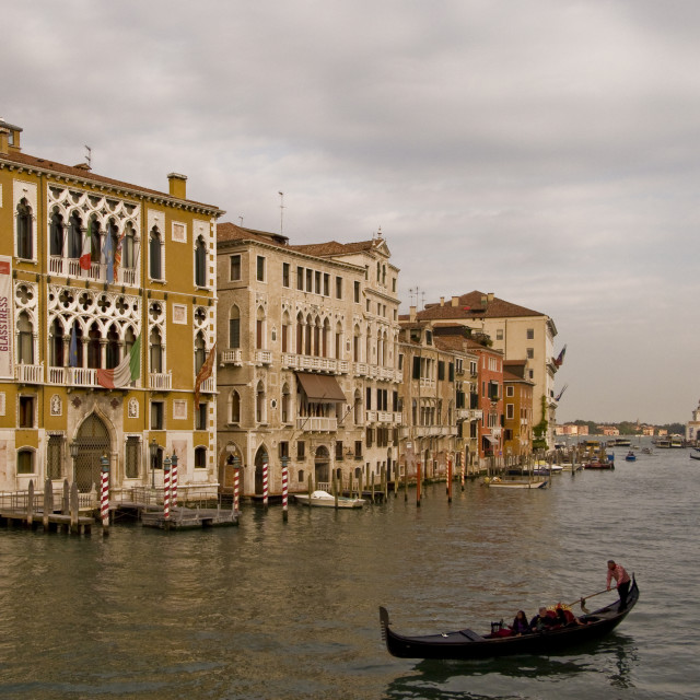 """""""Venice and the Grand Canal"""" stock image"""
