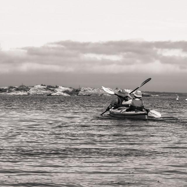"""Kayaking in Archipelago"" stock image"