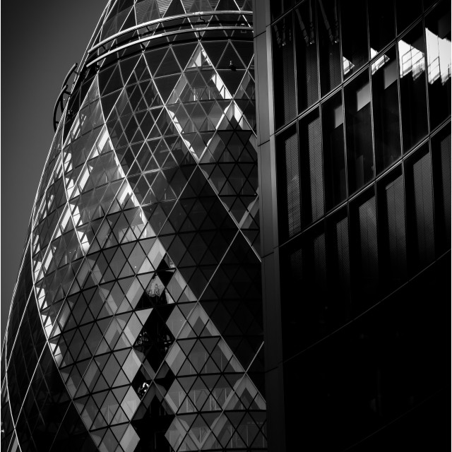 """30 St Mary Axe (Gherkin)"" stock image"