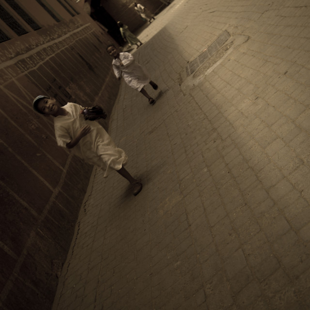 """Marrakech kids running"" stock image"