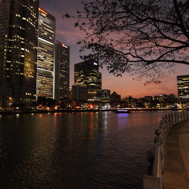 """""""Singapore twilight"""" stock image"""