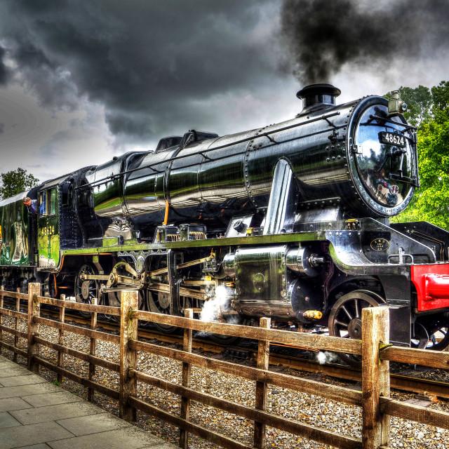 """The Black Locomotive"" stock image"