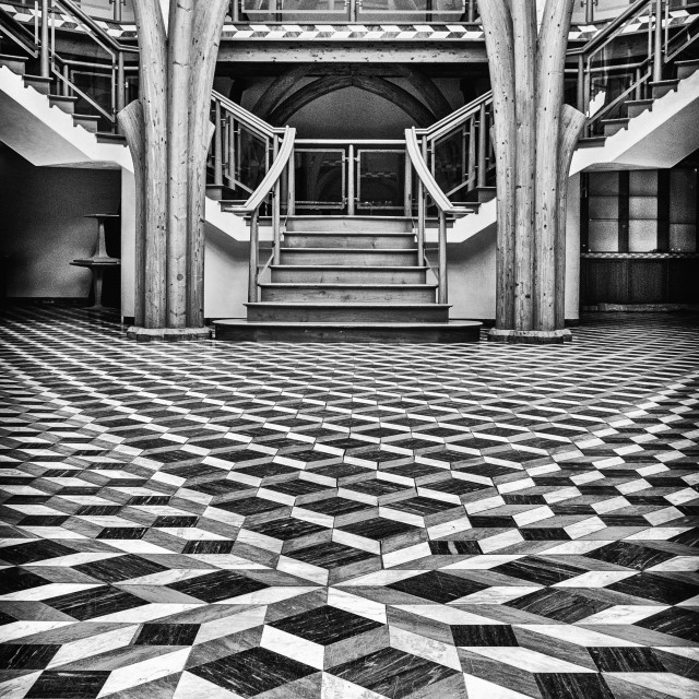 """Chequered Floor"" stock image"