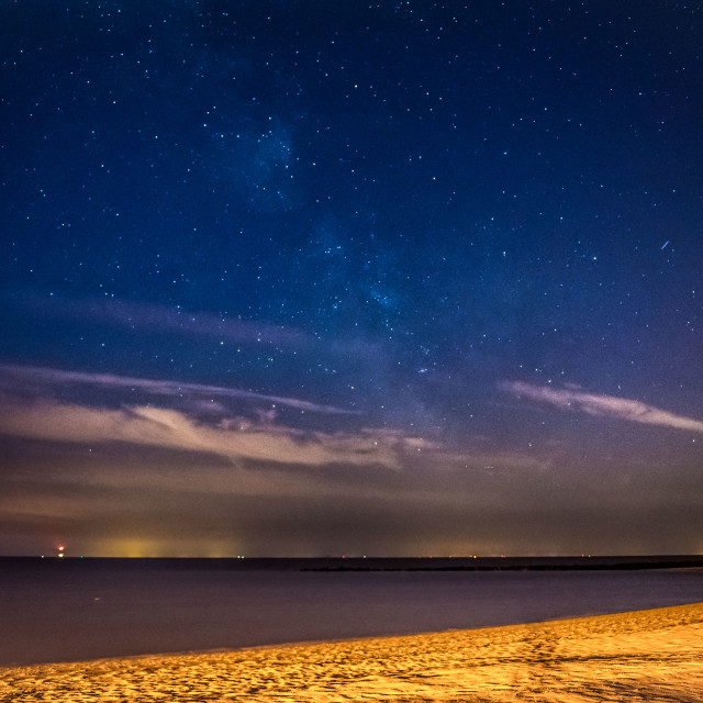 """Celestial Sky Above Martello Beach"" stock image"