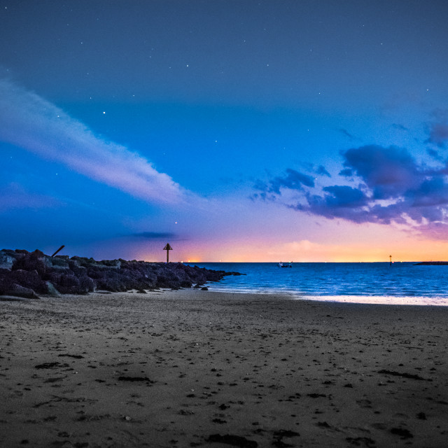 """""""When Night Meets Day in Perfect Harmony"""" stock image"""