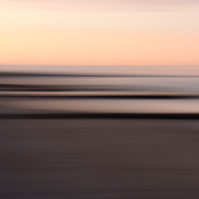 """Abstract beach groynes at Twilight"" stock image"