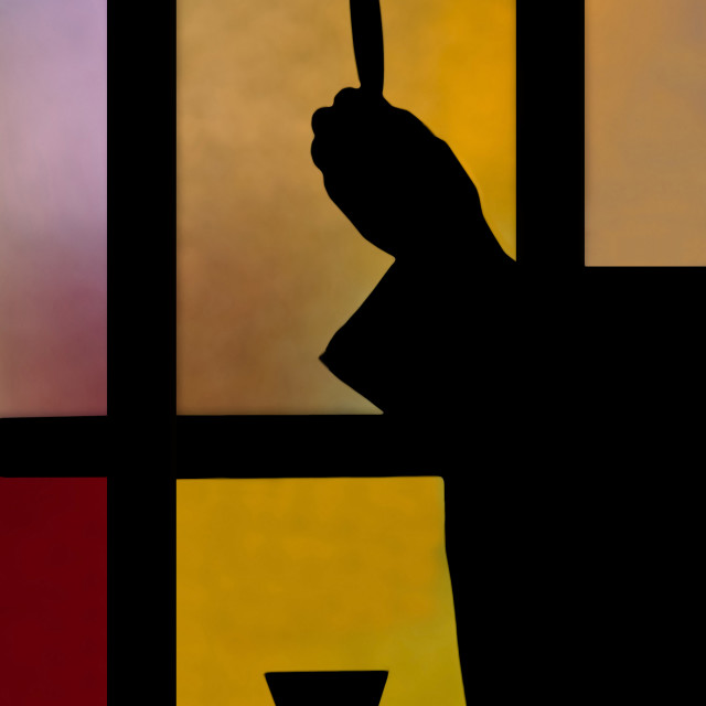 """priest in silhouette"" stock image"